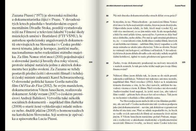 Zuzana Piussi: Jak dělat dokument ve společnosti, která se bojí?